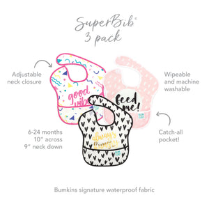 SuperBib® 3 Pack: Always Hungry, Feed Me, & Good Vibes