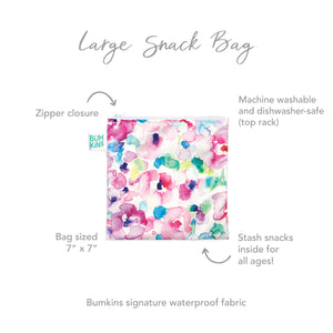 Reusable Snack Bag, Large: Watercolor