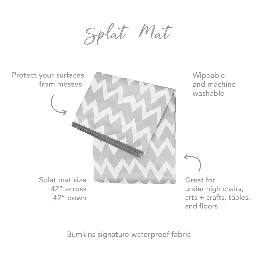 Splat Mat: Gray Chevron