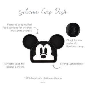 Silicone Grip Dish: Mickey Mouse
