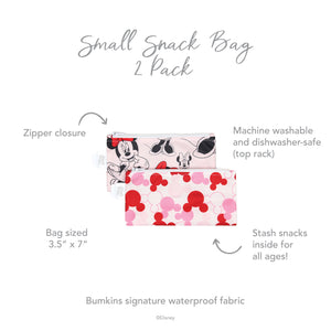 Reusable Snack Bag, Small 2-Pack: Minnie Mouse