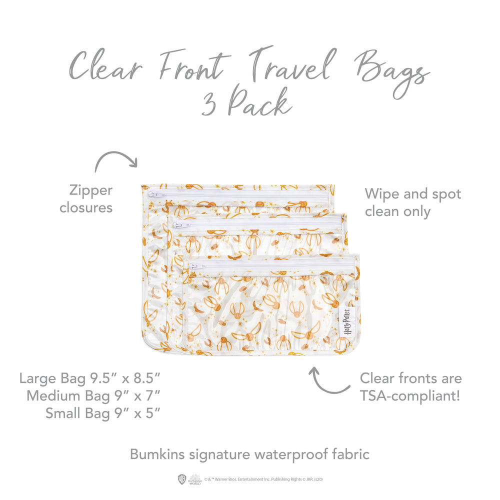 Clear Travel Bag 3-Pack: Snitch™
