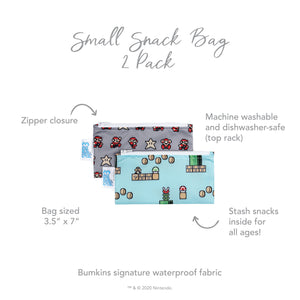 Reusable Snack Bag, Small 2-Pack: Super Mario 8-Bit