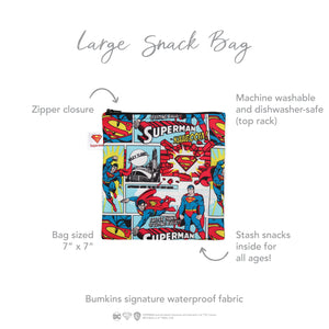 Reusable Snack Bag, Large: Superman