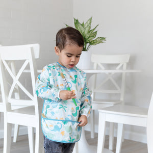 Long-Sleeved Art Smock: Dinosaurs