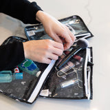Clear Travel Bag 3-Pack: Mickey Mouse Icon Black + White
