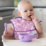 Silicone First Feeding Set: Lavender