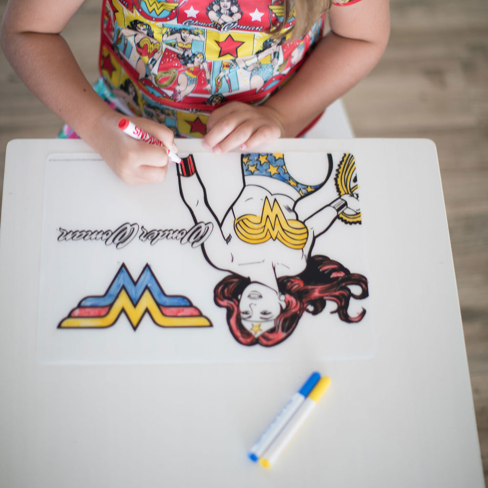 Silicone Coloring Placemat: Wonder Woman