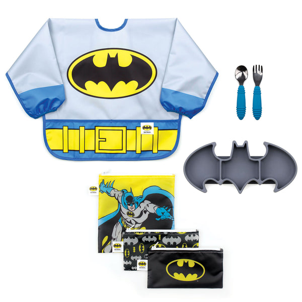 batman kids mealtime gift set