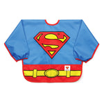 superman costume baby bib