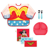 kids Wonder Woman mealtime gift set