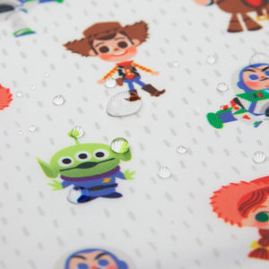 waterproof fabric with toy story design