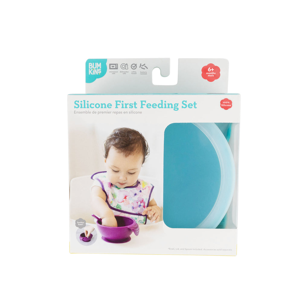 Silicone First Feeding Set: Blue