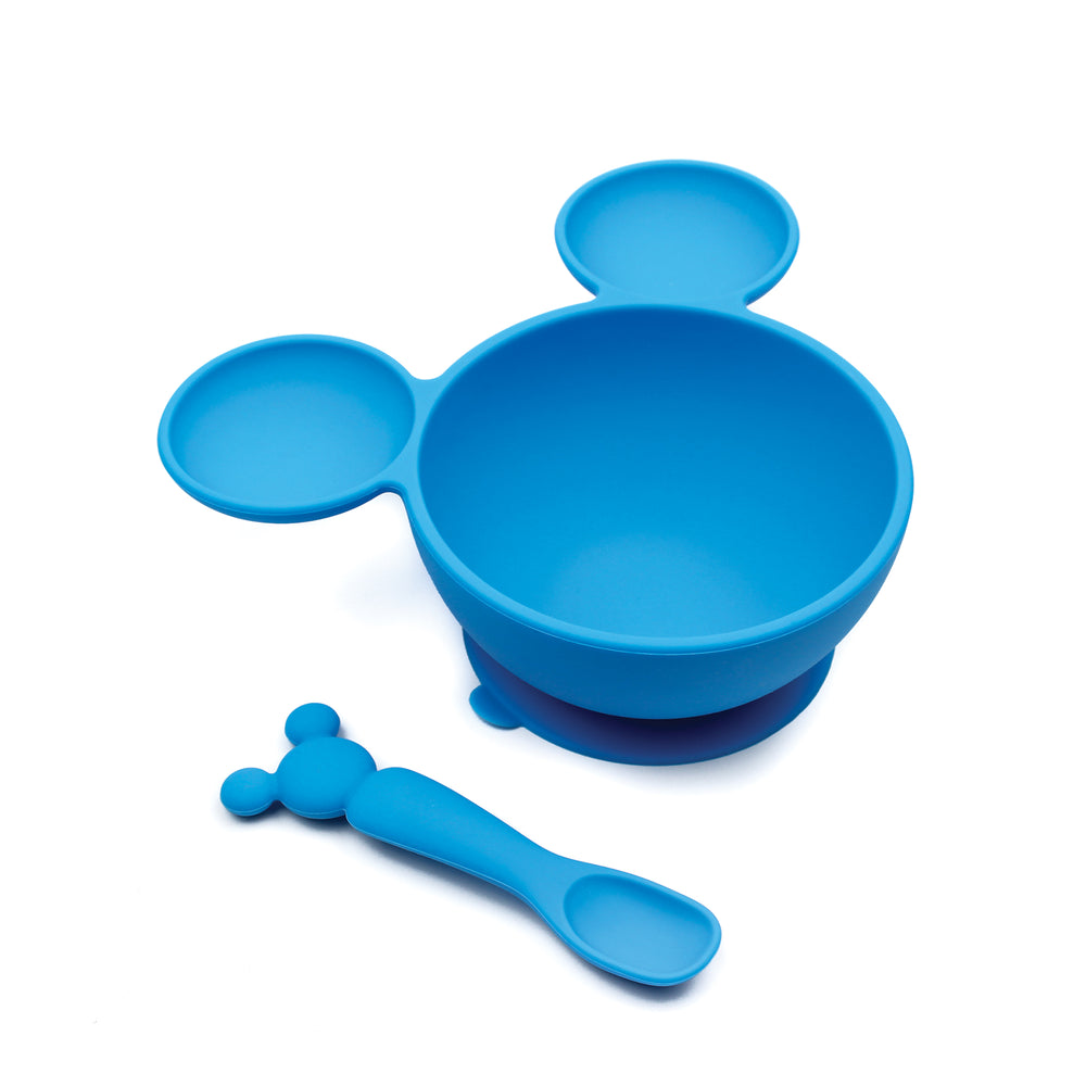 Silicone First Feeding Set: Mickey Mouse