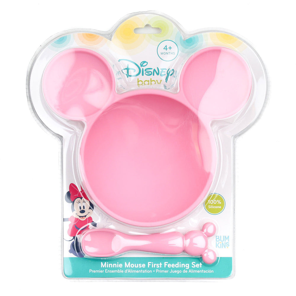 Silicone First Feeding Set: Minnie Mouse