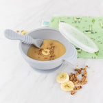 Silicone First Feeding Set: Gray