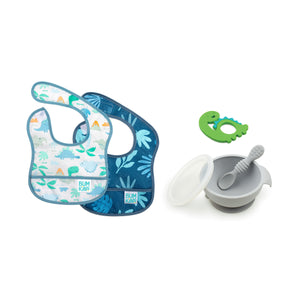Lil' Firsts Set for Babies from 3 to 9 mos: Dinosaurs & Blue Tropic