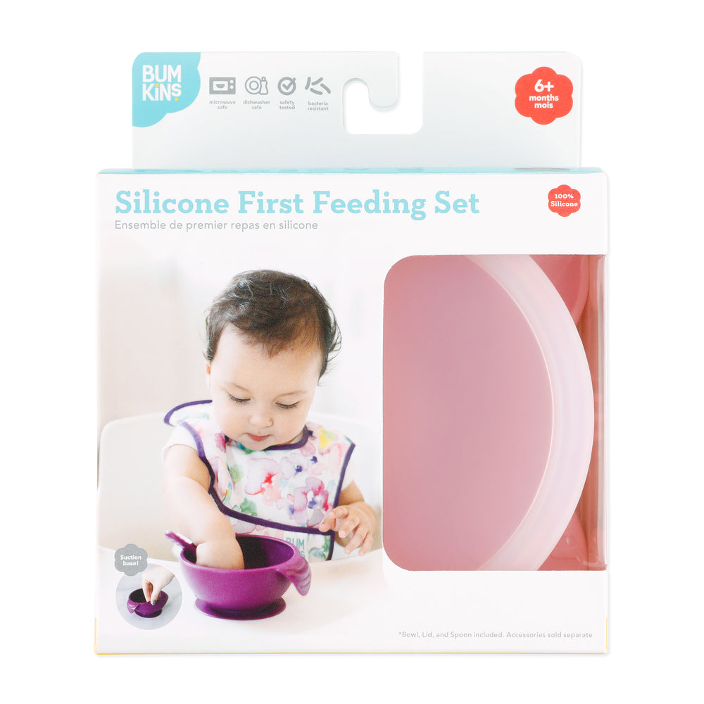 Silicone First Feeding Set: Pink
