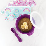 Silicone First Feeding Set: Purple