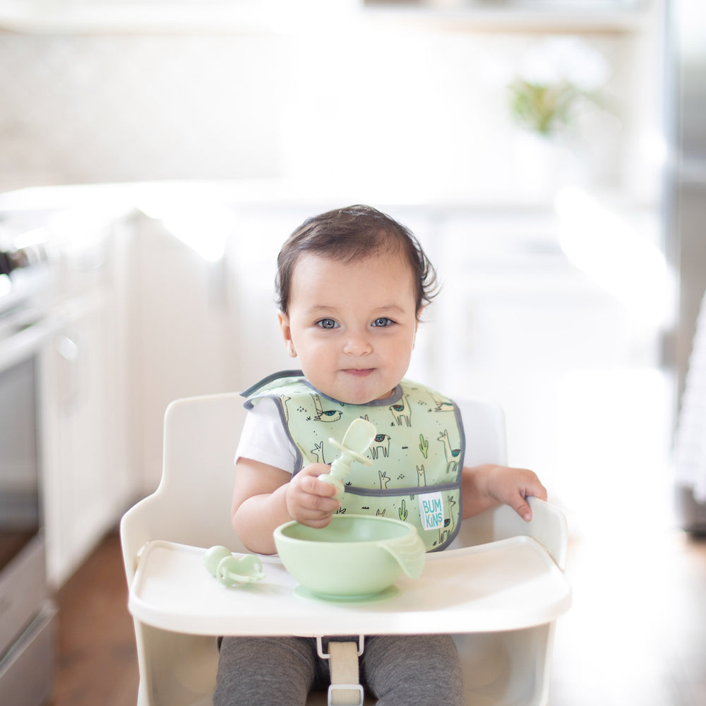 Silicone First Feeding Set: Sage
