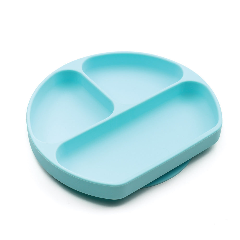 blue silicone suction plate for toddlers