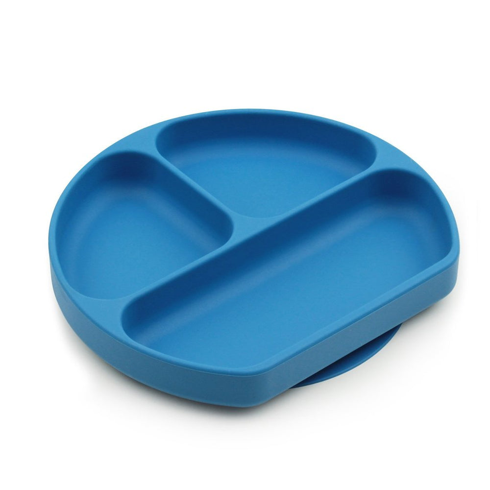 blue silicone divided plate