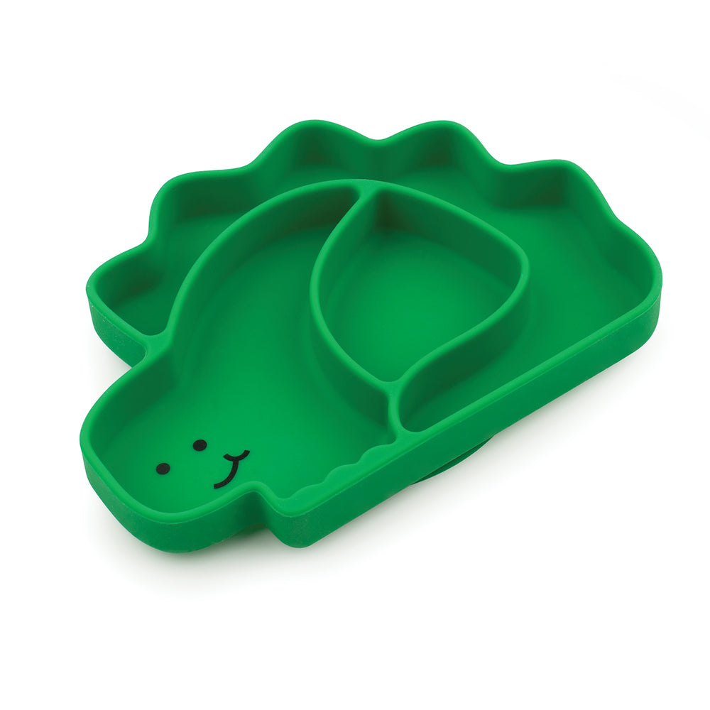 Silicone Grip Dish, Special Edition: Dino