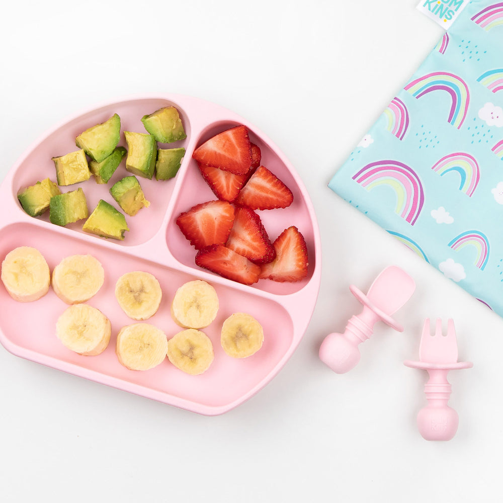 Silicone Grip Dish: Pink