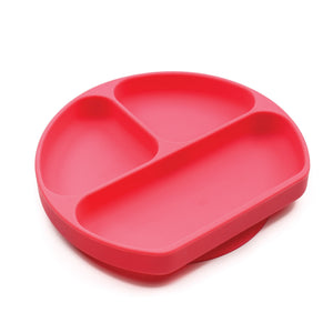 red toddler suction plate