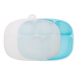 Silicone Grip Dish with Lid (5-Section): Blue