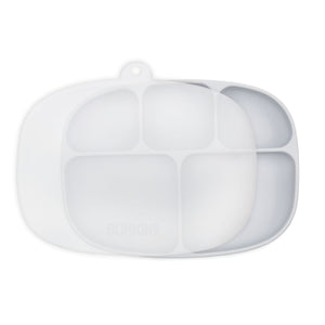 Silicone Grip Dish with Lid (5 Section): Gray