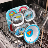 Melamine Divided Plate: Wonder Woman