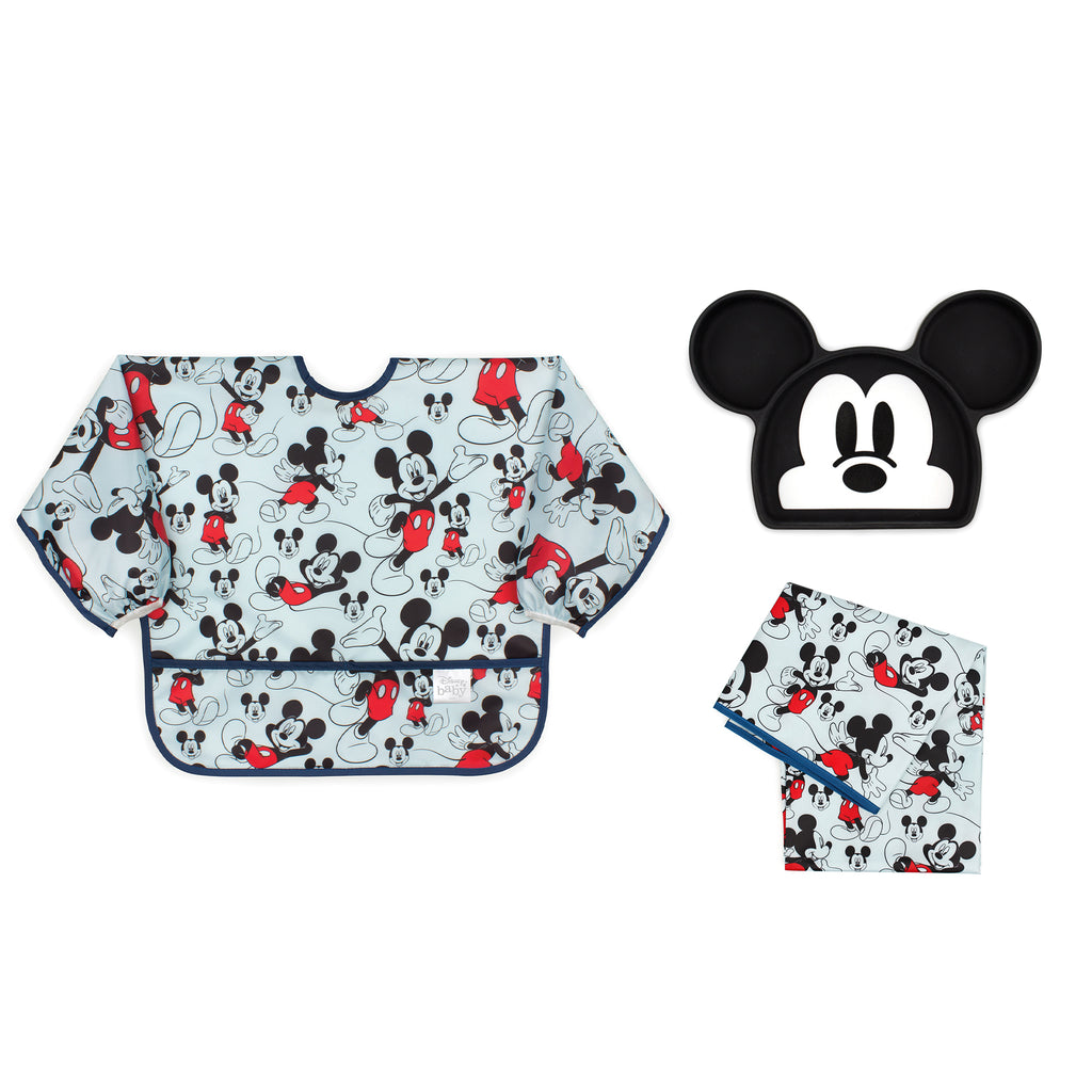 Mickey Mouse baby bib gift set
