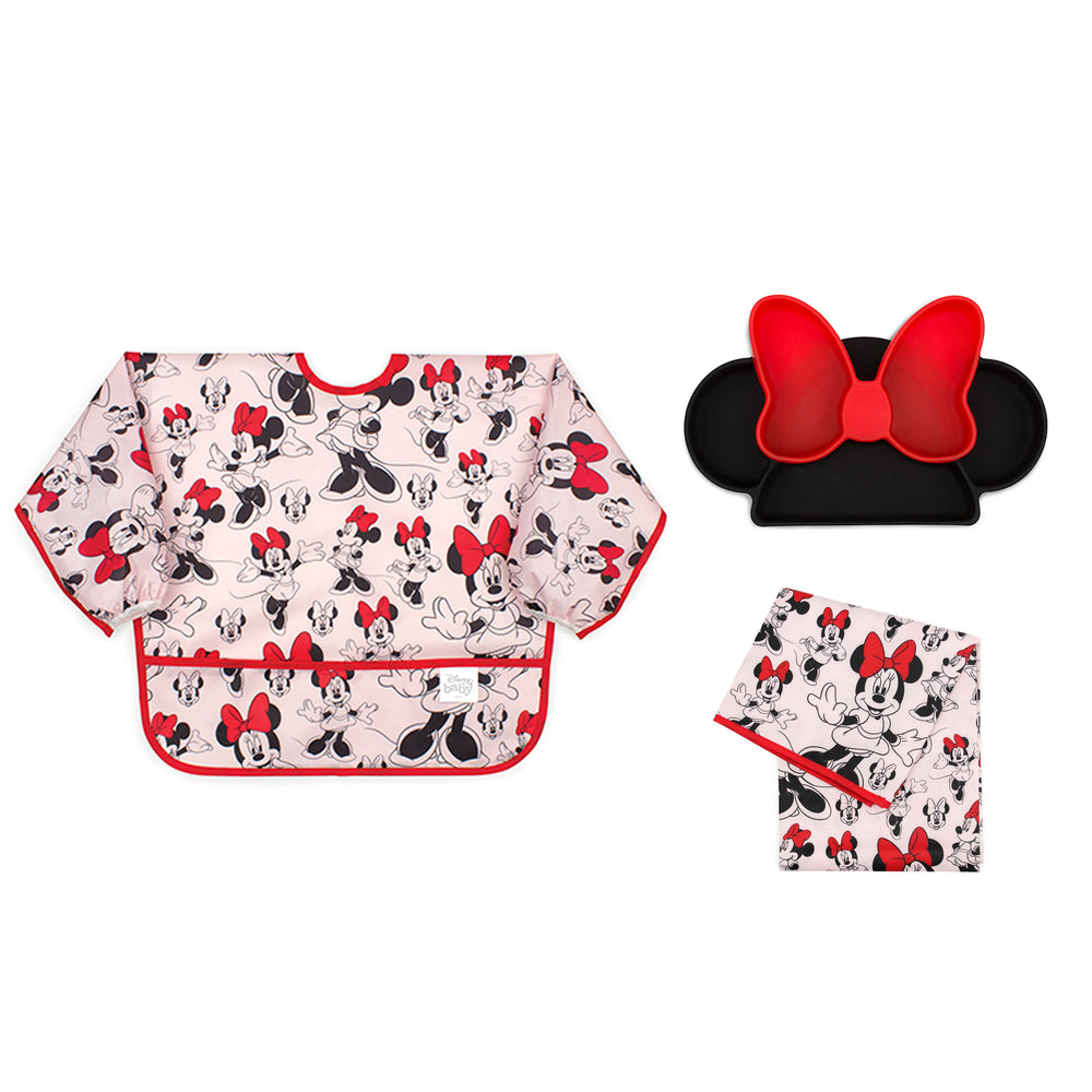 Minnie Mouse baby and toddler bib set