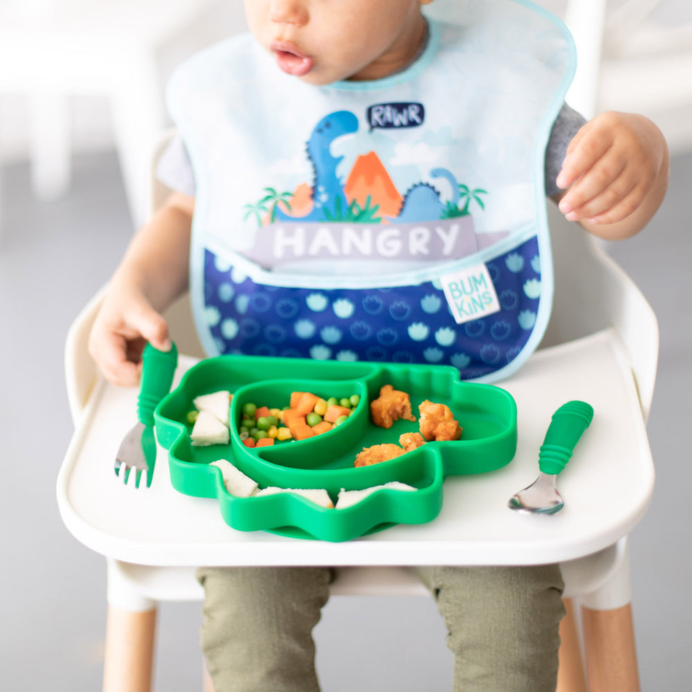 green toddler tableware