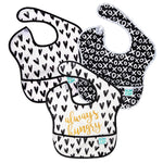 black and white baby bib pack