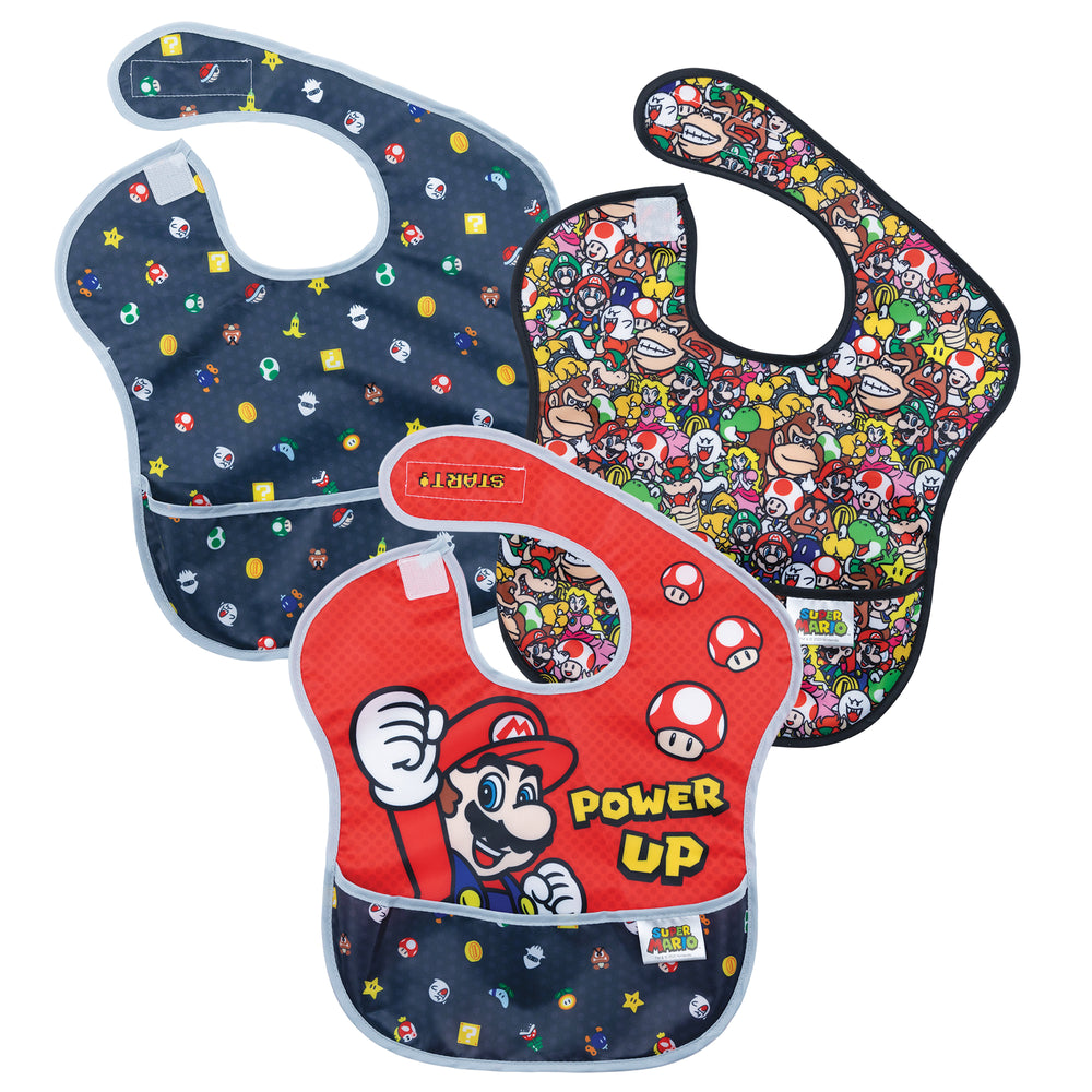 super mario gifts bib three pack