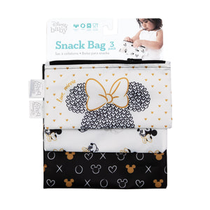 Reusable Snack Bag, 3-Pack: Love, Minnie