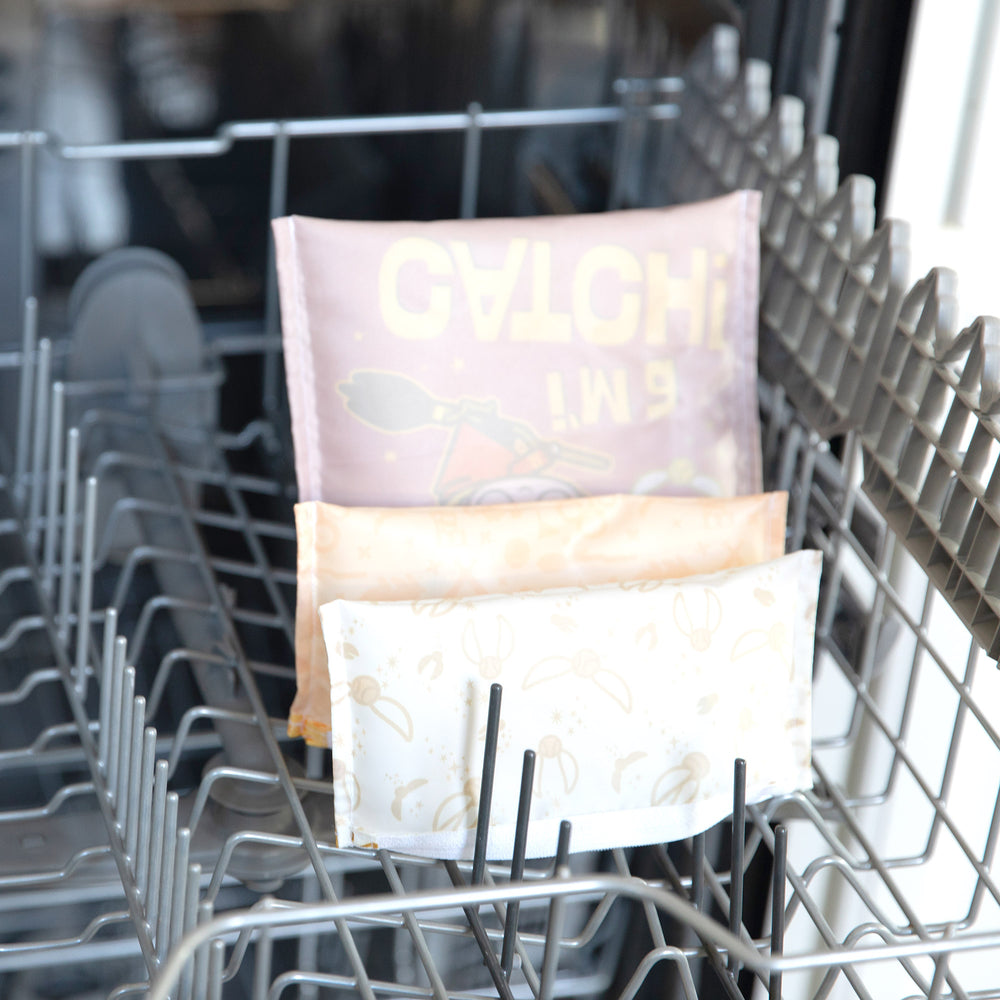 snack bags in a dishwasher