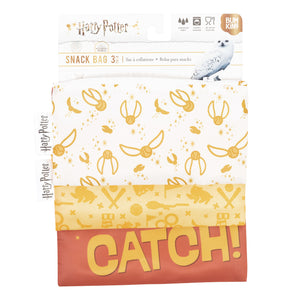 Reusable Snack Bag, 3-Pack: Quidditch™