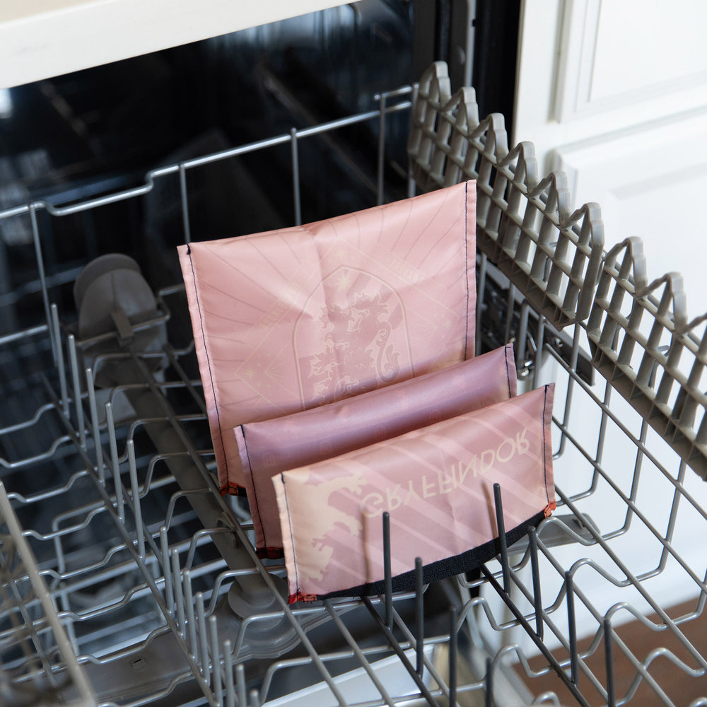 reusable bags in a dishwasher