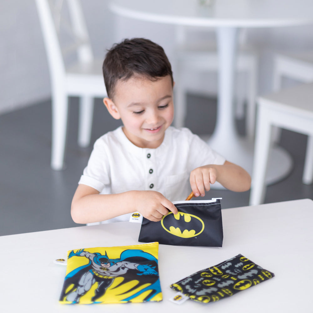 Reusable Snack Bag, 3-Pack: Batman