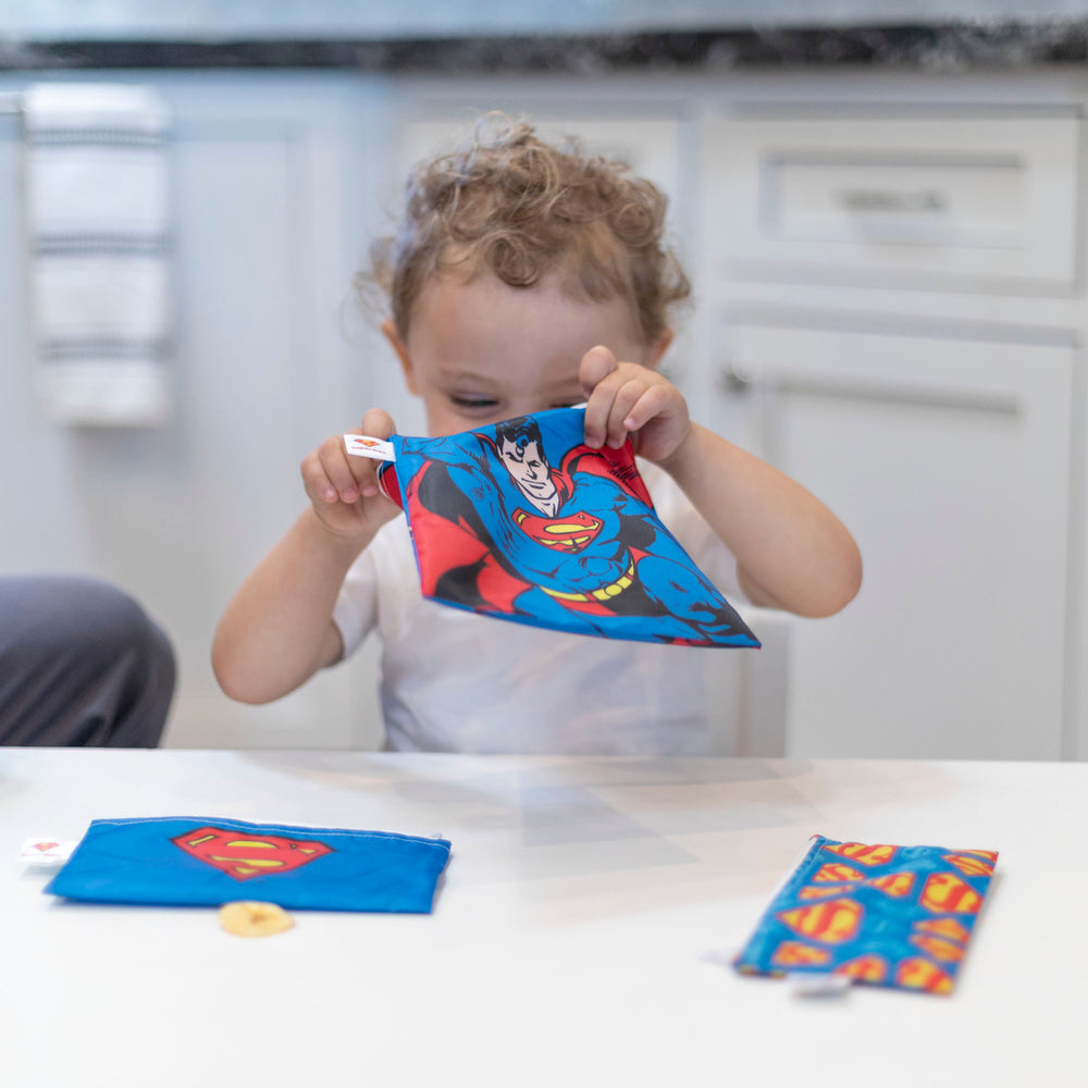 Reusable Snack Bag, 3-Pack: Superman