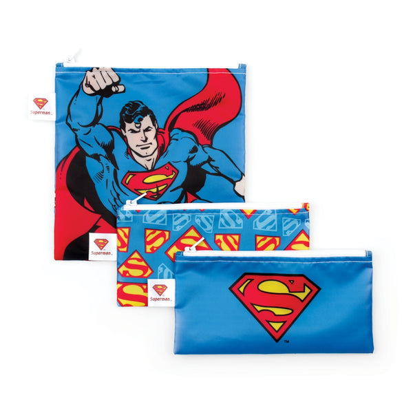 superman comic snack bags