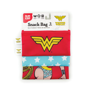 Reusable Snack Bag, 3-Pack: Wonder Woman