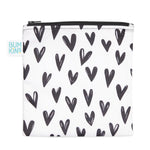Reusable Snack Bag, Large: Hearts