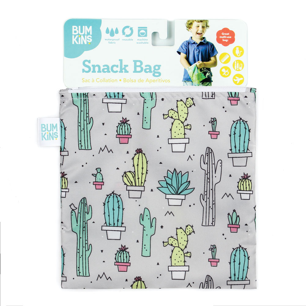 Reusable Snack Bag, Large: Cacti