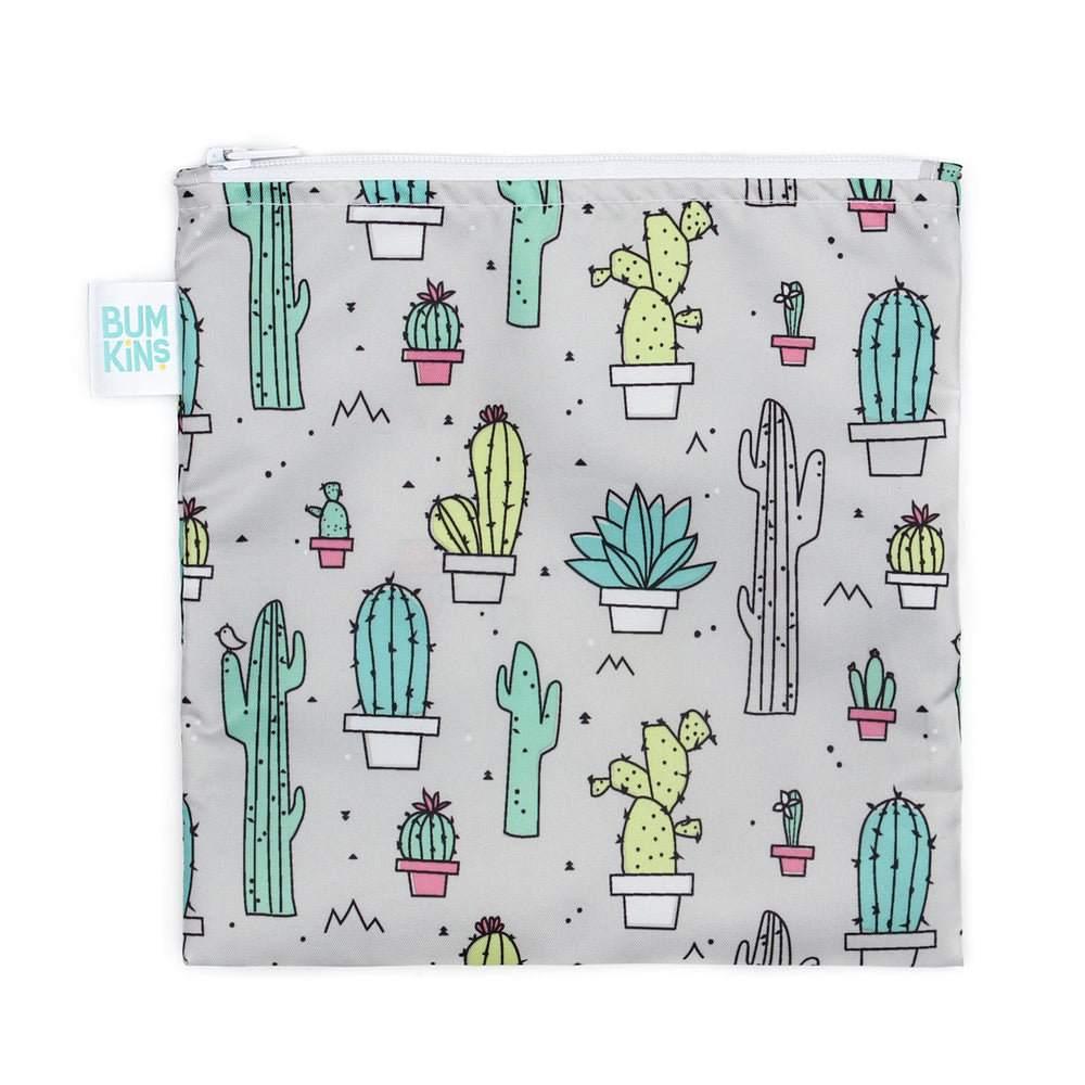 cactus design sandwich bag