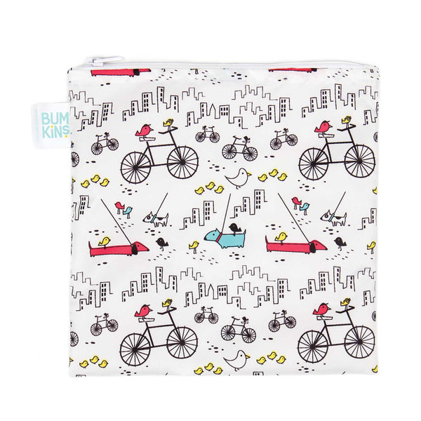 Reusable Snack Bag, Large: Urban Bird
