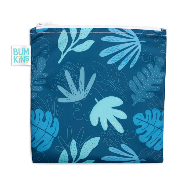 Reusable Snack Bag, Large: Blue Tropic